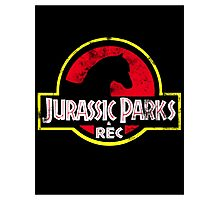 Jurassic Parks and Rec Distressed  Photographic Print