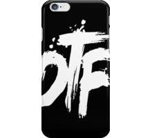 OTF White on Black (Small) iPhone Case/Skin