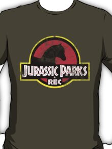 Jurassic Parks and Rec Distressed  T-Shirt