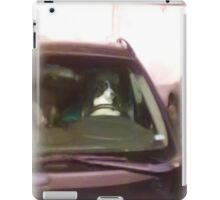A dog driving car iPad Case/Skin