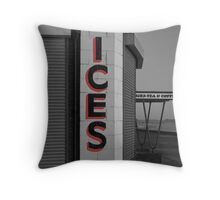 Retro Fun at the Seaside Throw Pillow