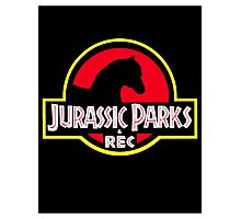 Jurassic Parks and Rec Clean Photographic Print