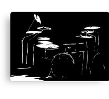 Drum kit black and white Canvas Print