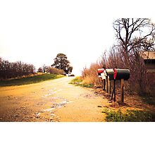 Golden Country Road Photographic Print