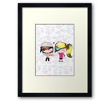 Candy & Cameron hold Hands Framed Print