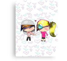Candy & Cameron hold Hands Canvas Print