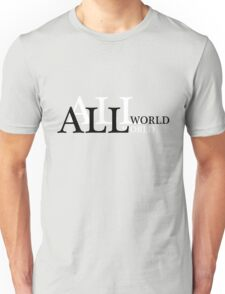 Word Puzzle Series: Small world after all Unisex T-Shirt