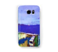 ferry view sea nature Samsung Galaxy Case/Skin
