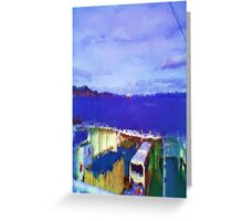 ferry view sea nature Greeting Card