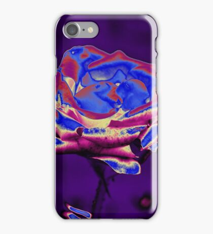 Blue and Purple Rose iPhone Case/Skin
