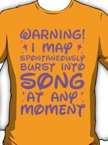 Disney Fangirl Warning T-Shirt