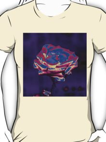 Blue and Purple Rose T-Shirt