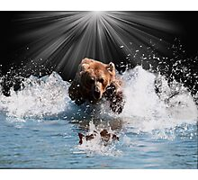 on stoppable force Photographic Print