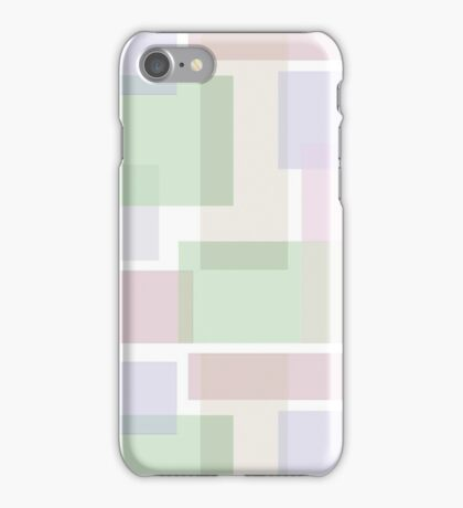 Abstract pastels geometric shapes pattern iPhone Case/Skin