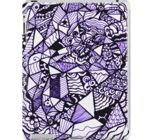 Stuff in Black and Purple iPad Case/Skin