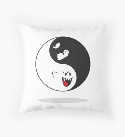MARIO. Ghost Boo and Bullet Bill Throw Pillow