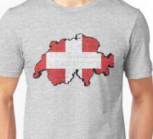 Switzerland Flag Map Unisex T-Shirt