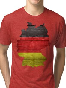 Germany Flag Map Tri-blend T-Shirt