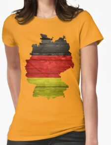 Germany Flag Map Womens Fitted T-Shirt