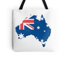 Australia Flag and Map Tote Bag
