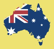 Australia Flag and Map Kids Tee