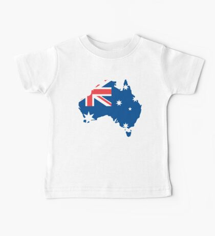 Australia Flag and Map Baby Tee
