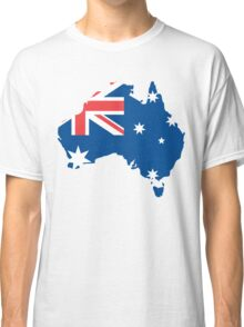 Australia Flag and Map Classic T-Shirt