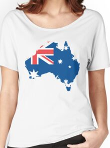 Australia Flag and Map Women's Relaxed Fit T-Shirt