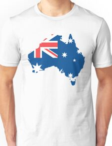 Australia Flag and Map Unisex T-Shirt