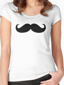 Black mustache Women's Fitted Scoop T-Shirt