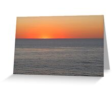leucadia sunset Greeting Card
