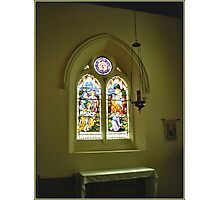 Stained Glass Window - Holy Trinity Church of England, Williamstown  Photographic Print