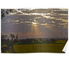 Sunset over Canola Poster