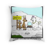 Young Rudolph Throw Pillow
