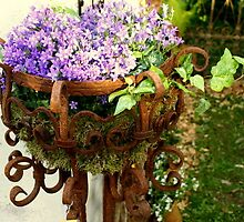 wrought iron planter by BronReid