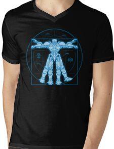 Vitruvian Jaeger Mens V-Neck T-Shirt