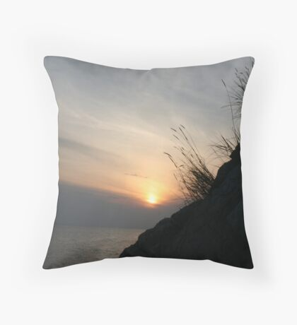 Adriatic Sunset Throw Pillow