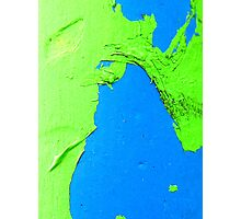 Green on Blue Photographic Print