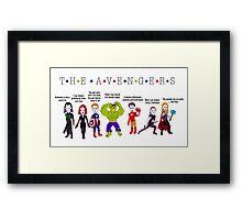 The Avengers Line up Framed Print