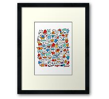 Mad Monster Friends Framed Print