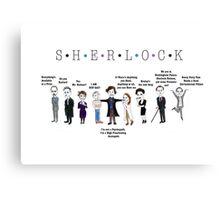 Sherlock Line up Canvas Print