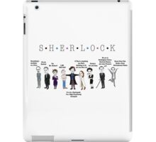 Sherlock Line up iPad Case/Skin