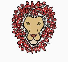 Lion with Man Made of Mushrooms (red version) Unisex T-Shirt