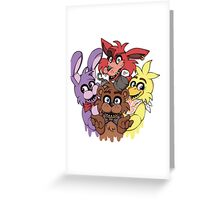Five Nights at Freddys! Greeting Card