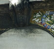 old mosaic detail, Pere Lachaise, Paris by BronReid