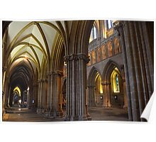 The Great Pillars in Wells Cathedral Poster
