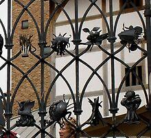 Globe Theatre, beautiful gate, detail by BronReid