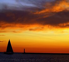 Sunset Sail (View Large) by BarbL