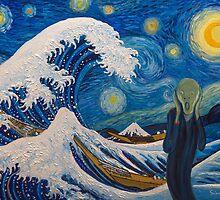 Hokusai, munch or van gogh? by briochina
