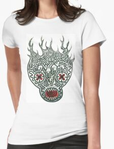 keith haring skull Womens Fitted T-Shirt